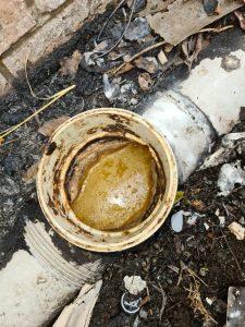 Blocked-sink-waste-pipe